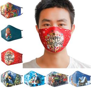 Рождество 3D Ситец маска для взрослых Зимней пыле Держите Теплые дышащую и моющееся Рождество Маски GGE2145