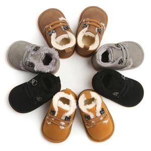 Осень Новорожденного Повседневный Frist Walker Младенческая Boy шнурках мягкой подошве обуви малыша Носки 2 шт