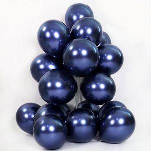 10pcs metallic luminous blue balloons dark blue latex balloon birthday wedding party decor Valentine's Day Inflatable Air Ball