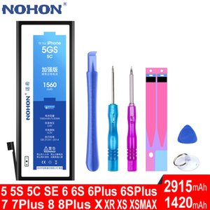 NOHON Original Battery For Apple iPhone 4 5 6 S 4S 5S 6S SE 7 8 Plus iPhone5 iPhone6 iPhone7 Mobile Phone Accessory Replace Tool