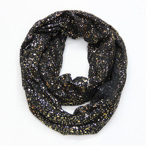 Dot Europe Infinity Scarfs Snood For Hijab Gold Ladies Shiny Bronzing Fashion Shipping Women Free New tsetdtj whole2019