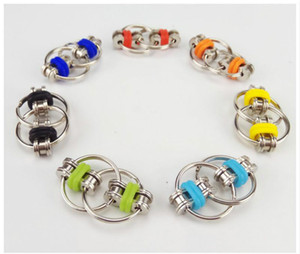 Key Ring Fidget Spinner Gyro Hand Spinner Metal Toy Finger Keyring Chain Hand Spinner Toys For Reduce Decompression Anxiety Party Gift