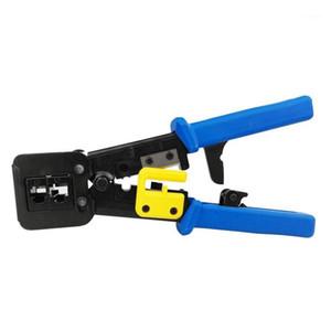 Ferramentas de Networking EZ RJ45 Crimper Cable Stripper RJ12 Cat5 Cat6 Pressionando Clip Pliers Tongs Clipper Clipper Multifuncional Kit1