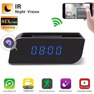WiFi Mini Camera Camera Sveglia Security Motion Motion Detection Nanny IR Tavolo Clock US Plug HD 1080p CNP8E