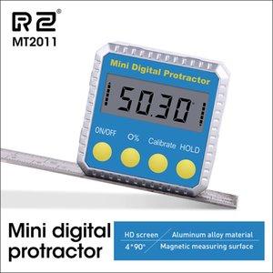 PROTRACTOR ANGLE RZ Biseau universel 360 degrés Mini Testeur d'inclinomètre numérique électronique Testeur d'inclinomètre MT2010 201117