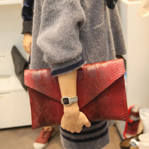 2018 New Handbags High Quality Ladies Bag Woman Serpentine Bags Red Envelope Evening Clutch Chain Female Shoulder Bag u6Y5#