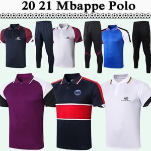 20 21 Draxler ICARDI Polo Football Shirts Kit MBAPPE Matuidi rouge pourpre bleu Verratti pantalon blanc Football Maillots DI MARIA KIMPEMBE Top