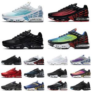 Nike Air Max TN Plus 3 Airmax Tuned Hombres Mujeres Zapatos para correr Radiant Red Laser Blue Triple Black All White Tiger Red Rainbow Zapatillas deportivas Zapatillas