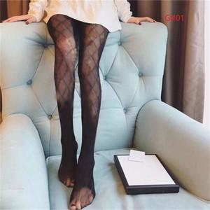 Collants de lettres creuses Femme Sexy mince légumes de sertissage Textile Femmes Sous Fashion Party Socking Blanc Black Chaussettes