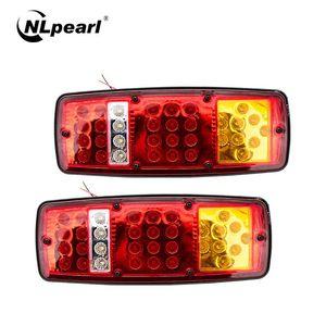 NLpearl Car Light Assembly Tail Light Rear Lamps Waterproof Brake Stop Reverse Lamp For Trailer Truck Car Caravan 12V 24V