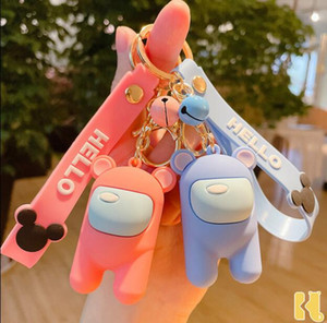 Игра Anime среди США PVC Beychain Trust никто среди американских игрушек рюкзак ключ цепи кулон дети подарки