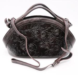 Neue große luxus frauen top griff totes handtasche echtes leder damen crossbody umhängetasche floral gravierte Hobos EU-Stil