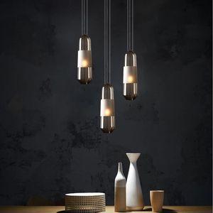 Art Single Glass Chandelier Nordic Creative Living Room Small Pendant Lights Bedroom Bedside Cocina Accesorio Room Decor