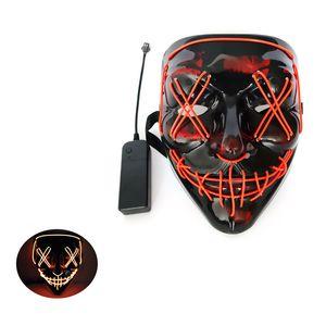 Cadılar bayramı Korku Maskesi LED Parlayan V-Şekilli Kan Parti Maskeleri Ile DJ Parti 10 Renk Işık Up Maskeleri Karanlık Tasarımcı Yüz Maskeleri Glow GWC2529