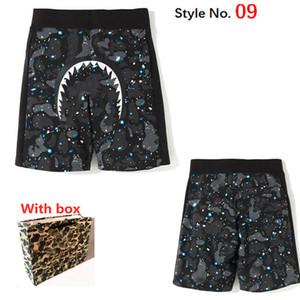 Shorts masculinos de secagem rápida de secagem de camuflagem calças camuflagem calças de praia listrado shorts casuais nadando calças quentes com rótulo com caixa