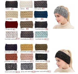 CC Bande à cheveux CC Coloré Crochet Twist Bandeau Head Bandeau d'hiver Élévateur Elastic Hair Bande Accessoires