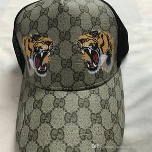 20SS Hot vente cap imprimé tigre hop chapeau d'abeille de serpent casquette de baseball de chapeau de chapeau de soleil chapeau de tennis féminin homme hommes de la hanche marque de sport