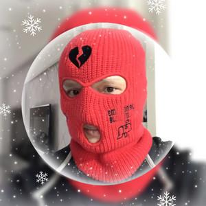 Masque de visage de ski personnalisé 3 trous Balaclava Broderie personnalisée Chapeaux d'hiver chaud pour hommes Femmes Thermo-thermique Néo Hat Halloween Party