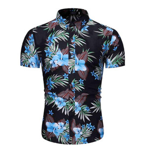 Camisas Casuales De Hombres Cw Camisa Hawaiana De Playa Con 5 Estilos Para Hombre, Camisetas Estampado Floral Frutas, Vacaciones, Moda Talla Grande