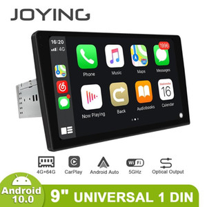 "Tek Din Dokunmatik Ekran 9 ""2.5D IPS Android 10 4 GB 64 GB Üniversitesi Araba Radyo Stereo 4G Android Oto Carplay Multimedya Player OBD2 Araba DVD"