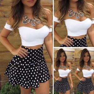 Hot Women 2 Pieces Short Sleeve T Shirt Short Skirt Bodycon Party Evening Cocktail Mini Dress