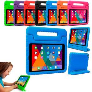 أطفال الأطفال مقبض حامل إيفا رغوة لينة صدمات الثقيلة قرص حالة سيليكون حالة لسيليكون لابل ايباد ميني 2 3 4 ipad air ipad برو 12.9