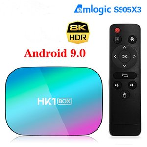 HK1 BOX 8K 4GB 128GB TV Box Android 9 Amlogic S905X3 Android 9.0 1000M Wifi 4K GooglePlay Set top box