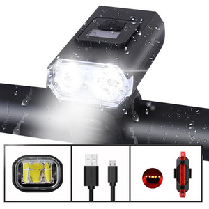 Bike Light Front Bicycle Lights usb Rechargeable T6 LED MTB Mountain Road Bike 6 Modes Headlight Cycling Equipment