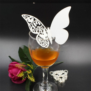 Table Centerpieces Decor Cup Card Butterfly Paper Cutting Cards Insertion Wedding Decorations Red Wine Champagne Card 0 2jg G2