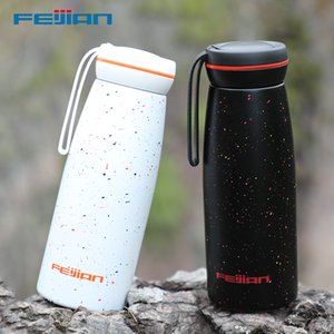 FEIJIAN Casual Vacuum Flasks, Women Thermos, 500ML, Stainless Steel, Office School Water Bottle, Coffee Cup Mug 201109