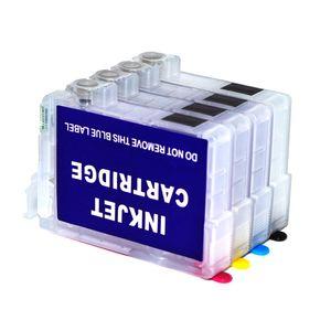 2 conjuntos / lote.empty, impressora WF3730 WF3733 WF2370 Cartucho de tinta recarregável para Epson T702 T702XL, Wthout Chip