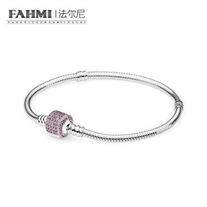FAHMI 100% 925 Sterling Silver 1:1 Original 590723CZS Charm Bracelet Authentic Temperament Fashion Glamour Retro Wedding Women Jewelry