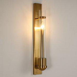 American Style Modern Wall Lamp Ouro Home Atmosfera sala de TV fundo Lâmpada de parede de cabeceira quarto Aisle Lamp