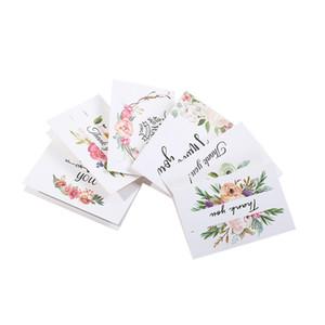 Thank You Greeting Card Giorno del Ringraziamento di compleanno di Natale Biglietti di auguri di carta stampata fiore Greeting Card DWF1225
