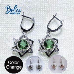Bolaijewelry,Zultanite earring color change diaspore earring 925 sterling silver simple style jewelry for women Wedding wear