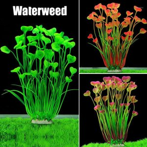 Handmade Aquarium Plastic Plants Decoration Fish Tank Water Plant Grass Ornament XHC881