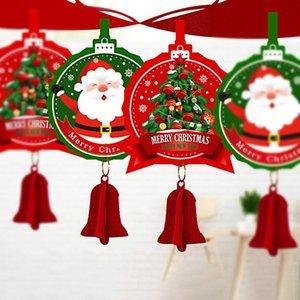 Christmas Felt Bandeira Feliz Natal Decoração para casa Garland Papai Noel Navidad Natal Xmas Noel Decor 2020 Ano Novo 2021