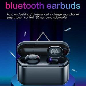 Auricolari Casque 5.0 + EDR TWS Bluetooth Fone de Ouvido 1500mAh Caixa de carregamento Wireless Earbuds Fones de ouvido