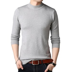 TFETTERS Men Brand Sweater Autumn slim Sweaters Men Casual Solid Color Turtelneck Sweater Youth Knitwear Plus Size M-4XL 201022