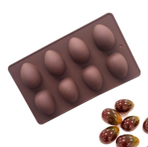 8 Eggs Shaped Easter Egg Silicone Baking Mould Pastry Chocolate Mold Pudding Ice Tray Mould Easter DIY Soap Mold Crafts Gifts SN3638