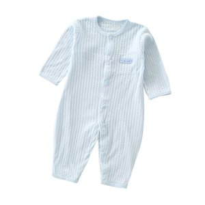 Baby Jumpsuit Summer Cotton New Long-Sleeved Romper Baby Baby Clothes Nine-Point Sleeve Childrens Air Conditioning Suit