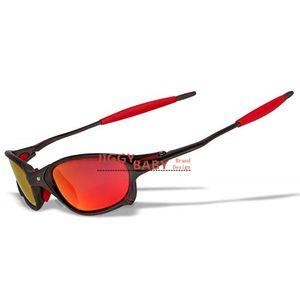 Top X Metall Juliet xx 2 Sonnenbrille Fahren Sport Reiten polarisierte UV400 Qualitäts-Sonnenbrillen Männer Frauen Iridium Spiegel Ruby Red Blau Neu