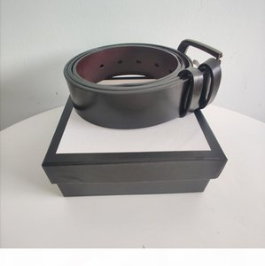 Hot Sale Unisex Letter Button Belt High Quality Leather Black Man Belt Metal Copper Buckle Woman Belts Fashion Accessories Supply Wholesale