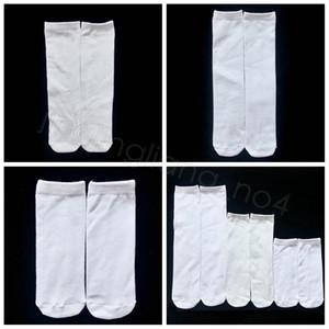 Sublimação White Socks Transferência Térmica Plain branco impressão frente e verso Meias 15 centímetros 20 centímetros 24 centímetros 30 centímetros 40 centímetros Unisex Casual Socks FFA4528A