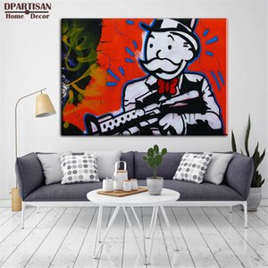 GUNMAN Alec Monopoly Home Decor Handpainted &HD Print Oil Painting On Canvas Wall Art Canvas Pictures 201008
