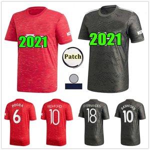 Manchester 2020 2021 united UTD SANCHO BRUNO FERNANDES POGBA RASHFORD soccer jersey MARTIAL football shirt 20 21 man + woman + kids kit