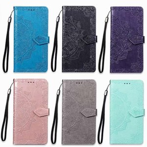 Imprint Lace Flower Wallet Leather Case For One Plus 6 Xiaomi Max 3 Pocophone F1 Redmi Note 6 Pro Galaxy (A8 A7 J3 )2018 Datura Id Flip Cove