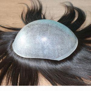 """""""Injektionsbasis"""" Männer Jungfrau Menschliches Haarsystem Ersatztoupee Haarteilinstallation Perücke Prothese für Haarausfall"""