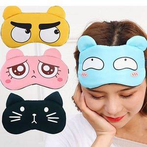 Erkekler Kadınlar Uyku Koruyucu Göz Maskesi Sevimli İfade Uyku Göz Maskesi Ile Buz Paketi Uyku Gölgeleme Nefes Gözlük DHF2712