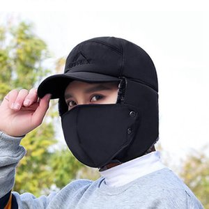 الشتاء الصياد القبعات صامد للريح الدافئة هات الرجال النساء منفذها الأذن رفرف قبعة شتاء للتزلج الفرقة الصياد لون الصلبة القطن قبعات IIA837